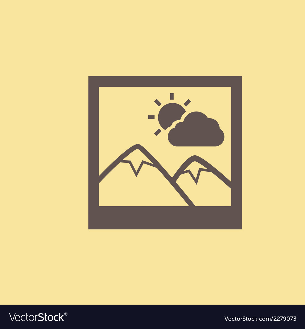 Inage flat icon vector | Price: 1 Credit (USD $1)