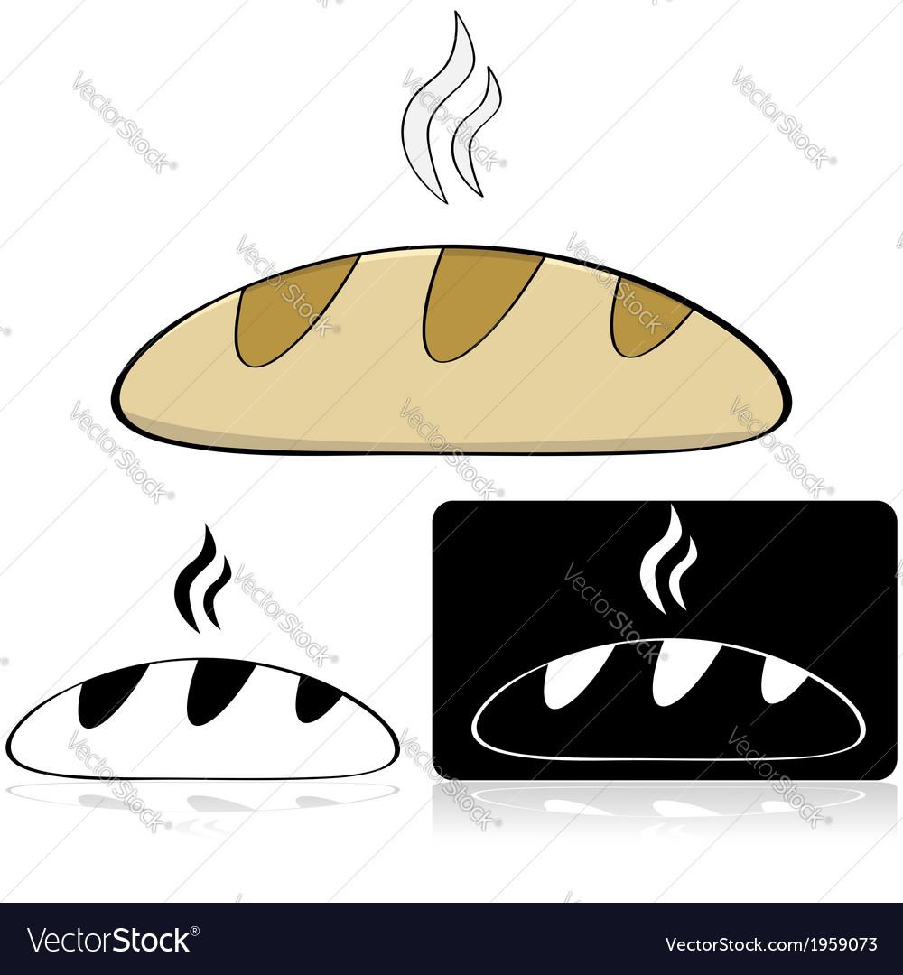 Loaf of bread vector | Price: 1 Credit (USD $1)