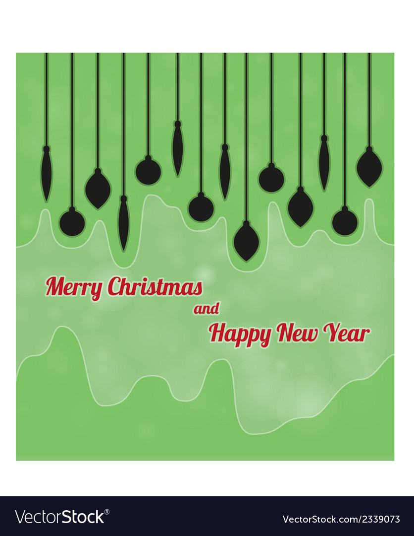 Merry christmas and happy new year with ornaments vector | Price: 1 Credit (USD $1)