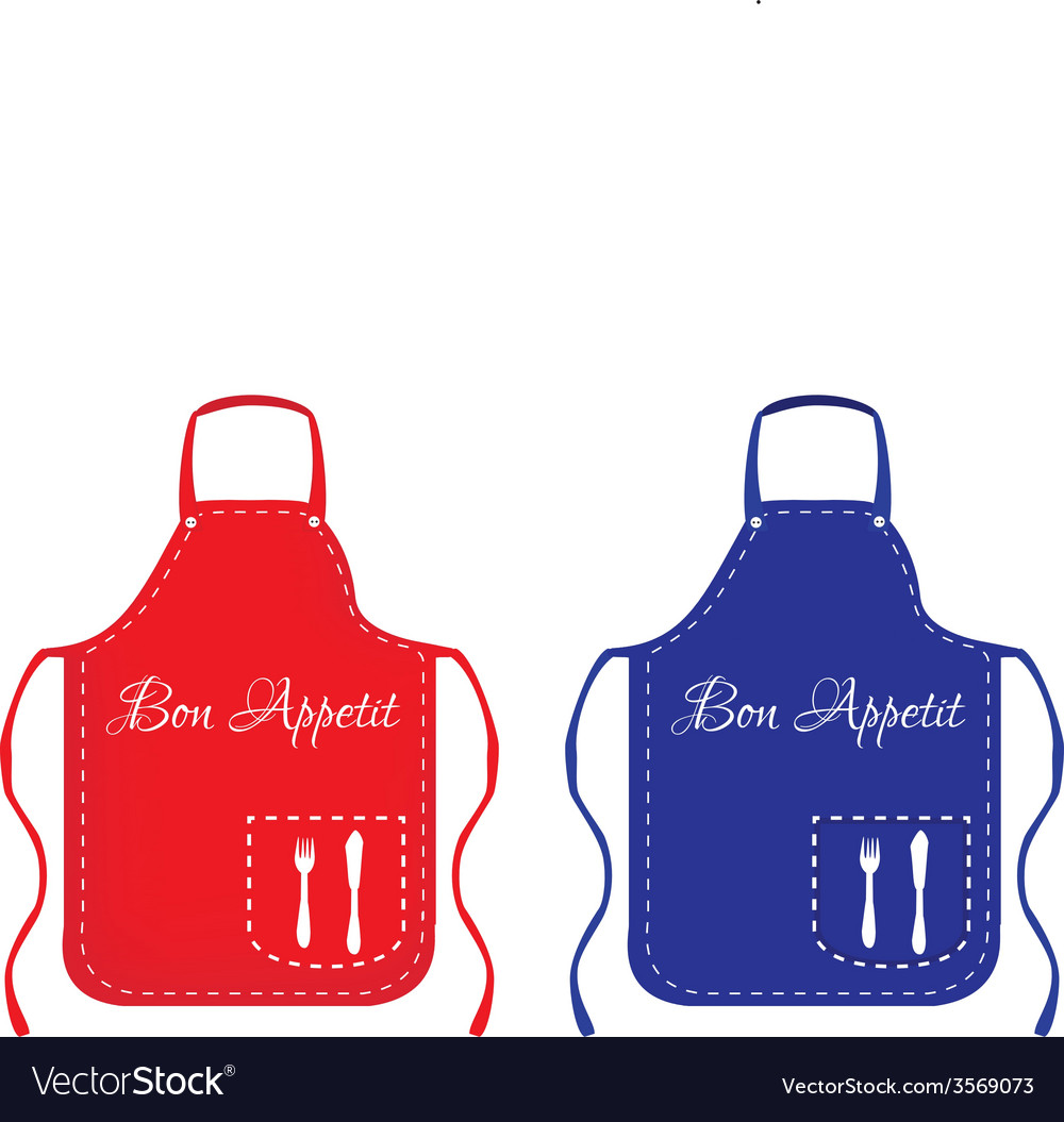 Red and blue apron vector | Price: 1 Credit (USD $1)