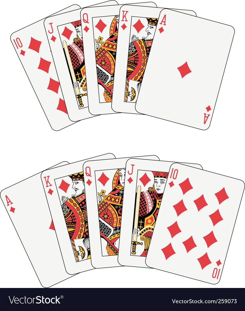 Royal flush diamond vector | Price: 1 Credit (USD $1)