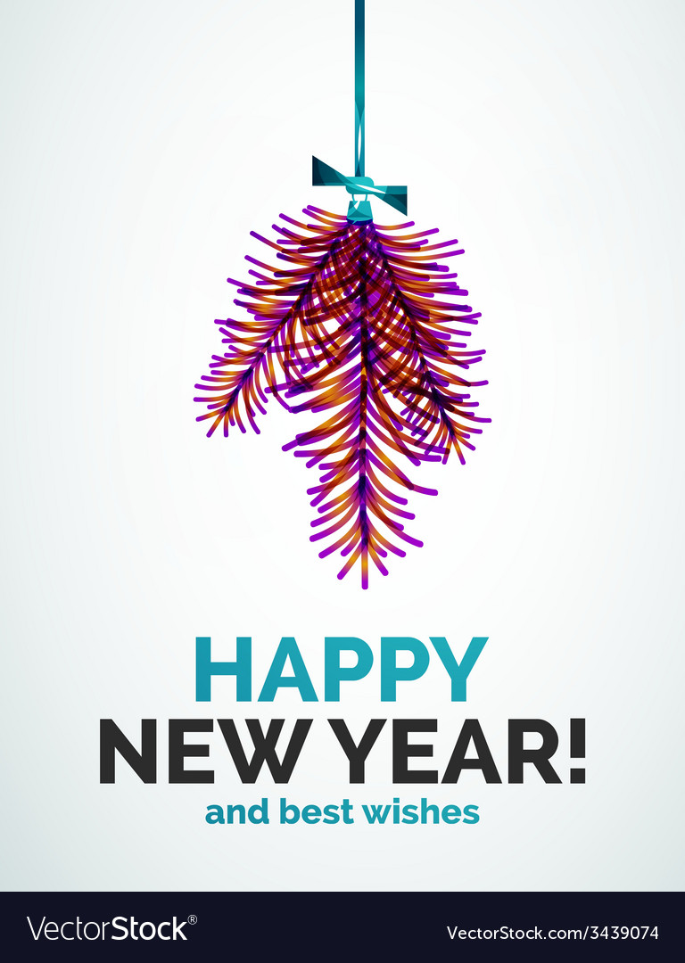 Christmas tree branch toy new year concept vector | Price: 1 Credit (USD $1)