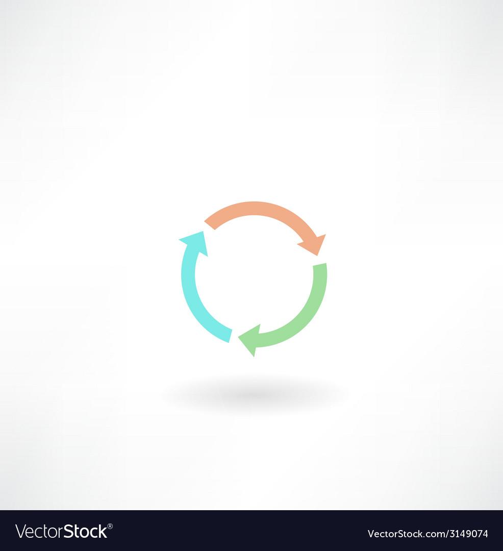 Circular arrow icon vector | Price: 1 Credit (USD $1)