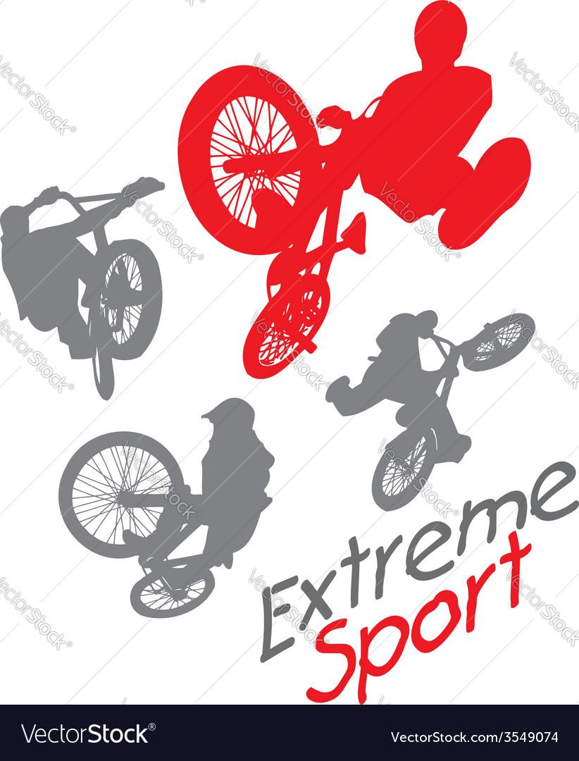 Extreme sport bmx rider - vector | Price: 1 Credit (USD $1)