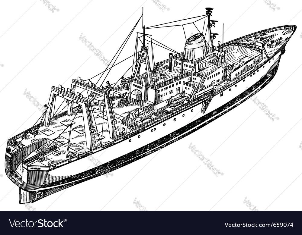 Fishing ship vector | Price: 1 Credit (USD $1)