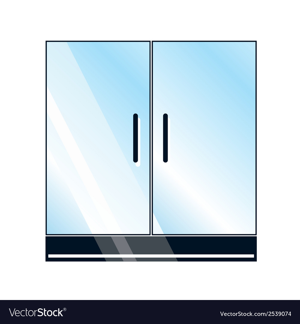 Glass doors on white background vector | Price: 1 Credit (USD $1)