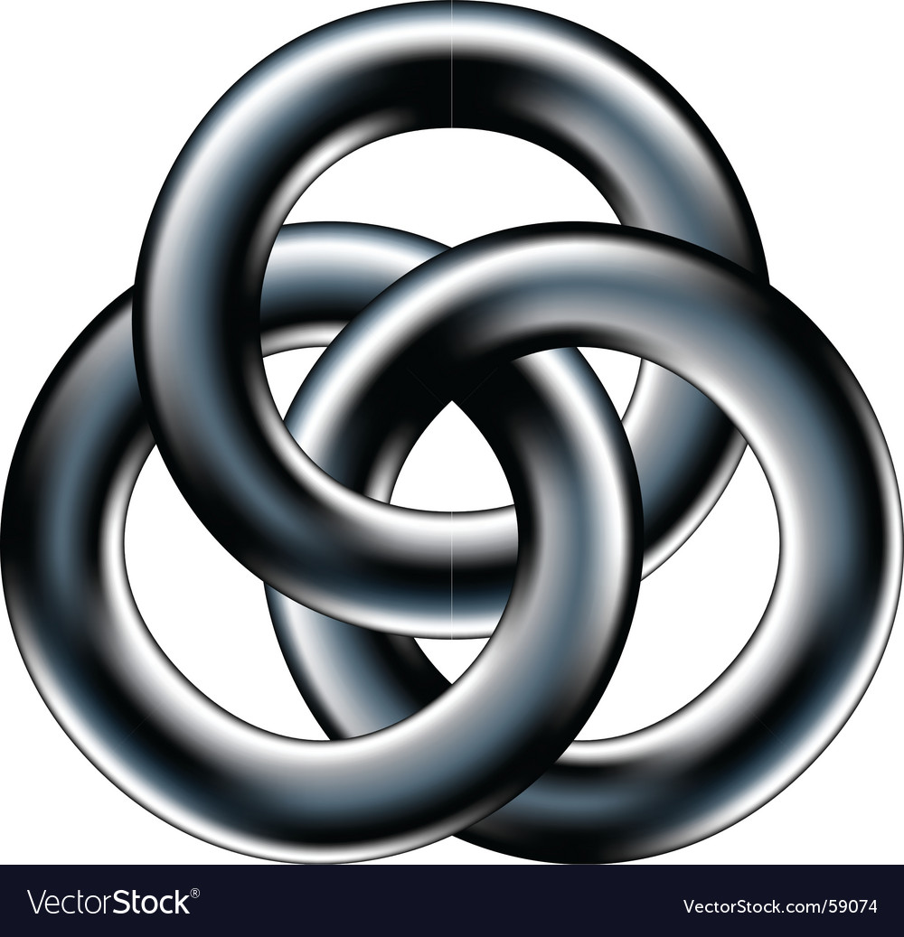Interconnected rings vector | Price: 1 Credit (USD $1)