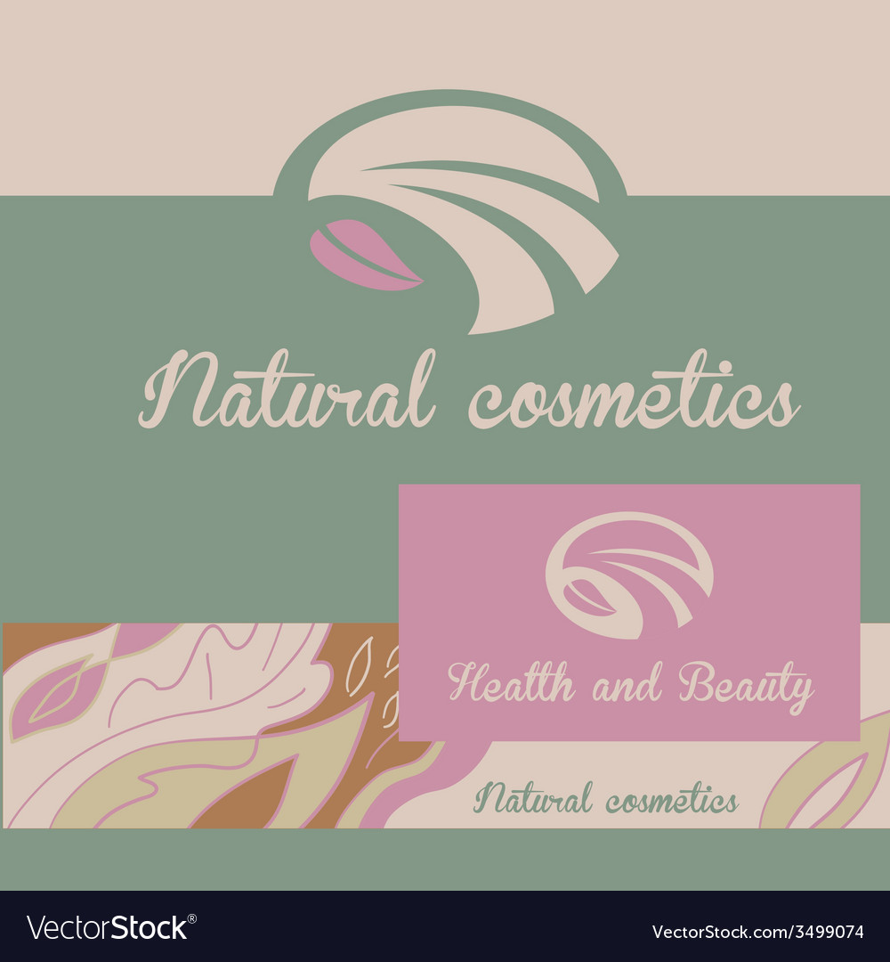 Logo natural cosmetics banner and badge the color vector | Price: 1 Credit (USD $1)