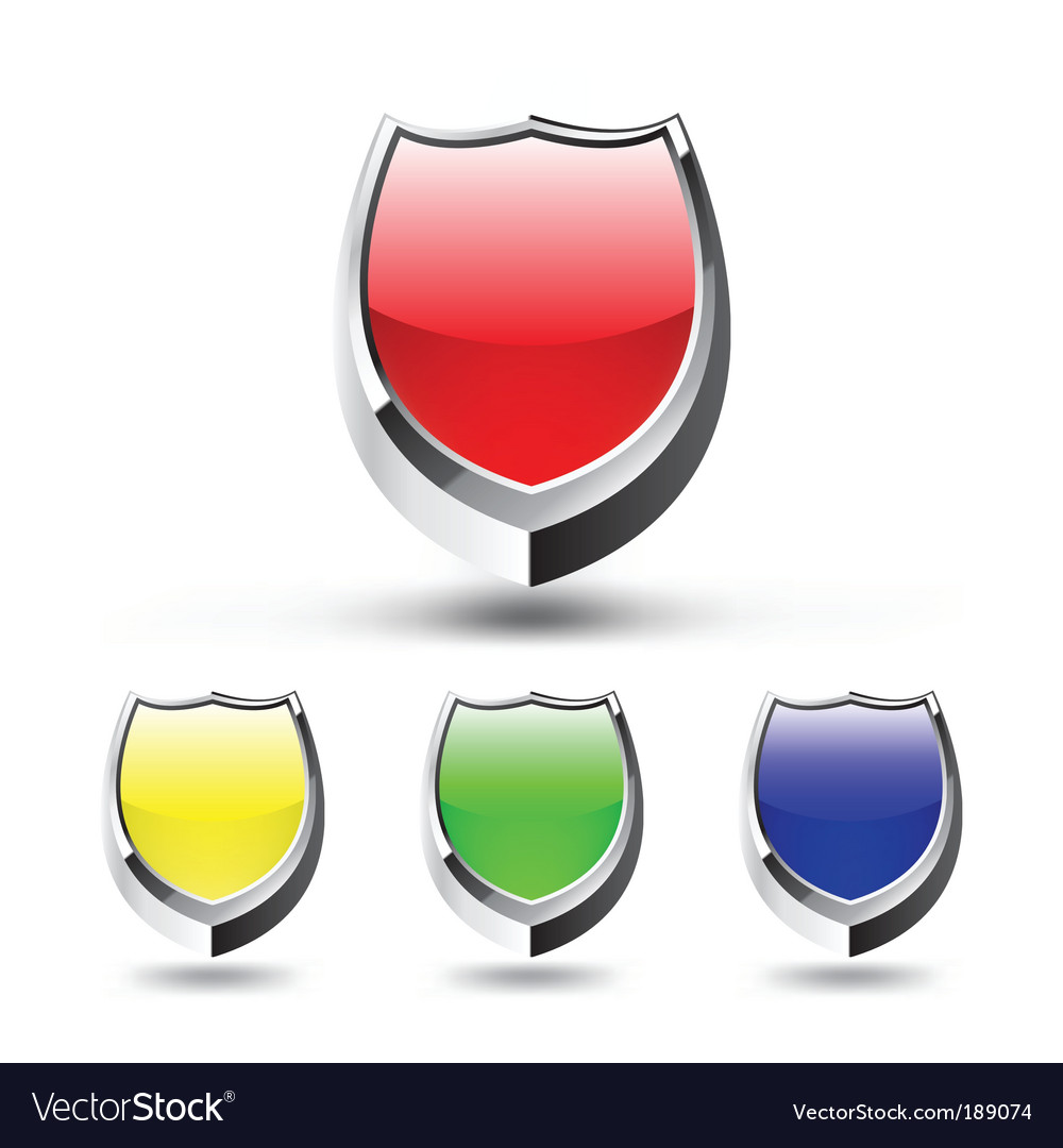 Shield emblem set vector | Price: 1 Credit (USD $1)