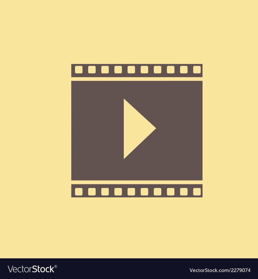 Video flat icon vector | Price: 1 Credit (USD $1)