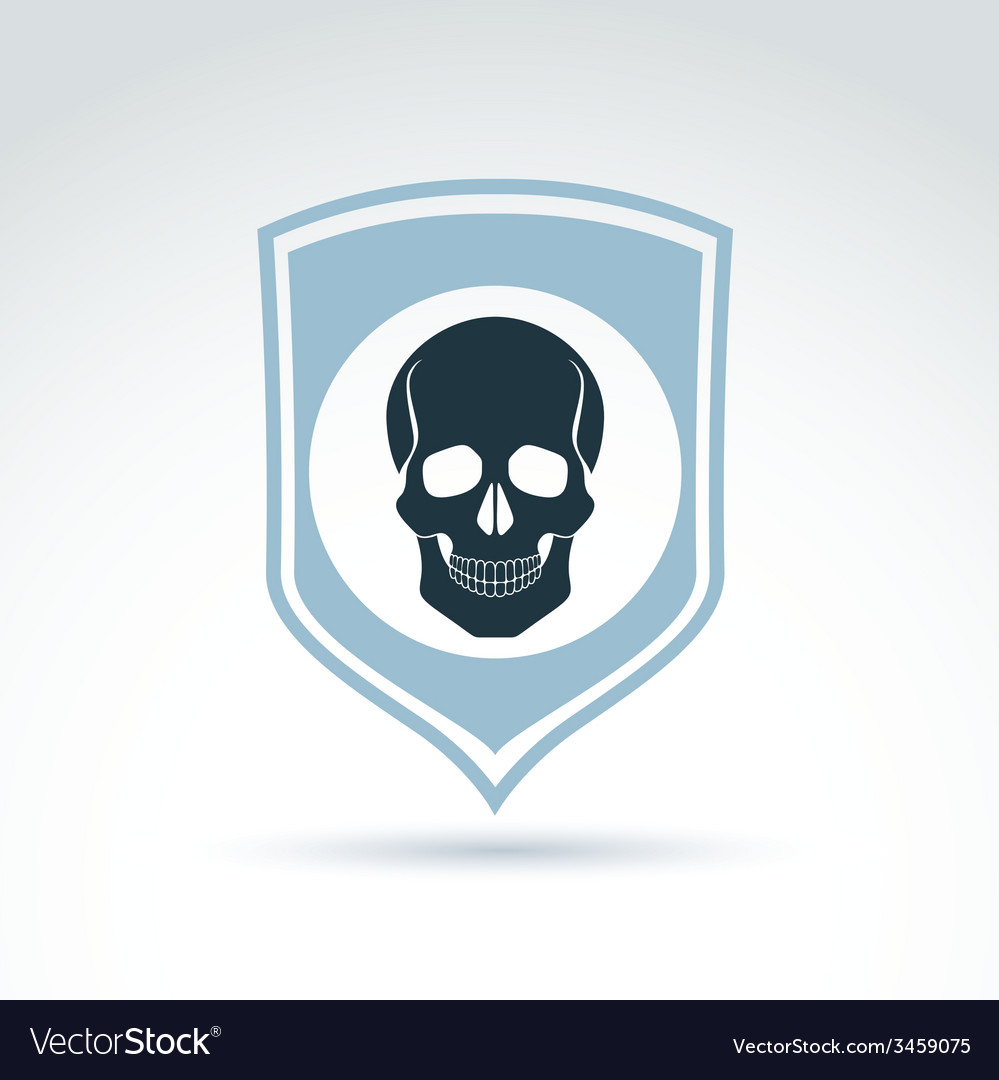 A human skull on a shield dead head abst vector | Price: 1 Credit (USD $1)