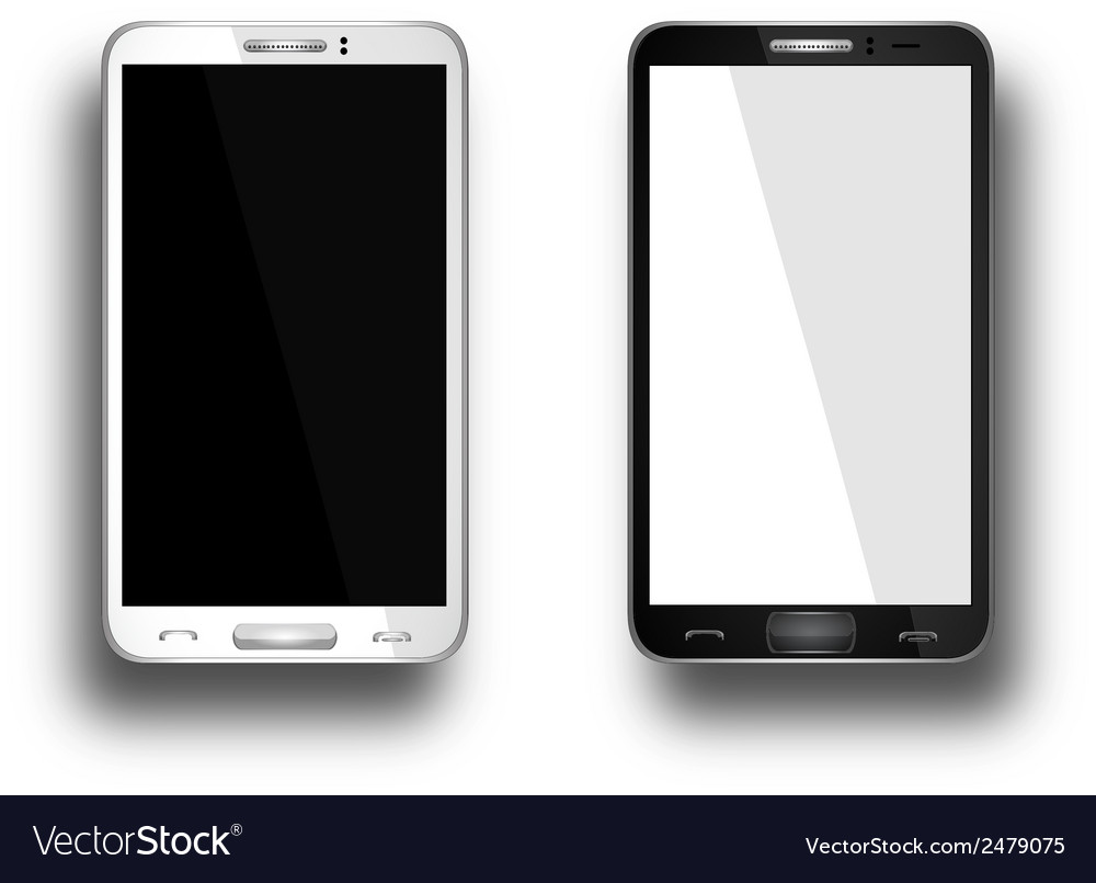 A mobile phones black and white vector | Price: 1 Credit (USD $1)
