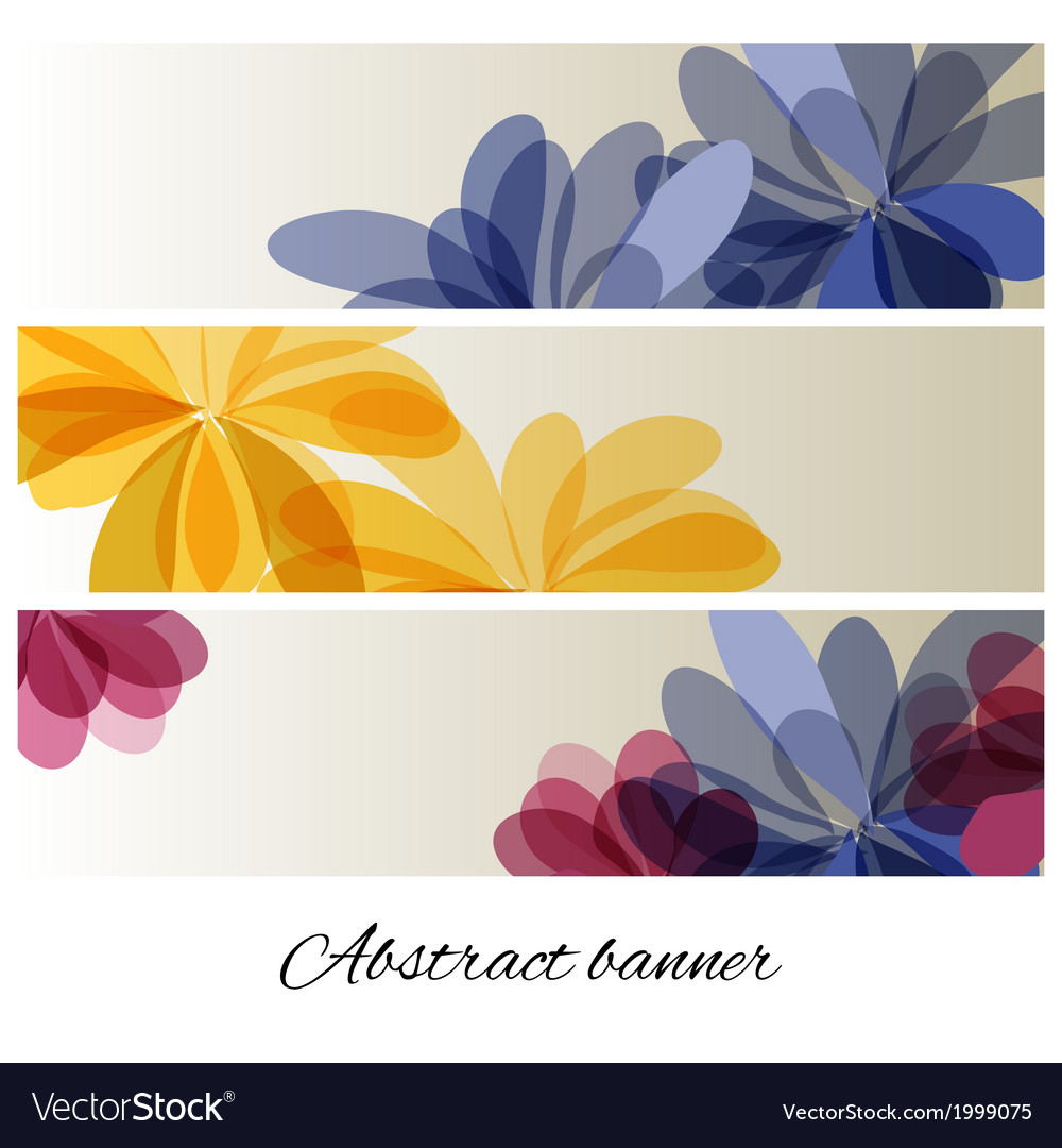 Abstract background with delicate flowers vector