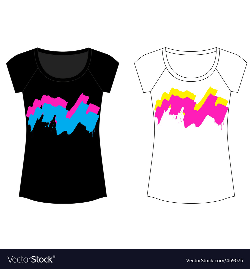 Abstract paint woman t shirt vector   Price: 1 Credit (USD $1)