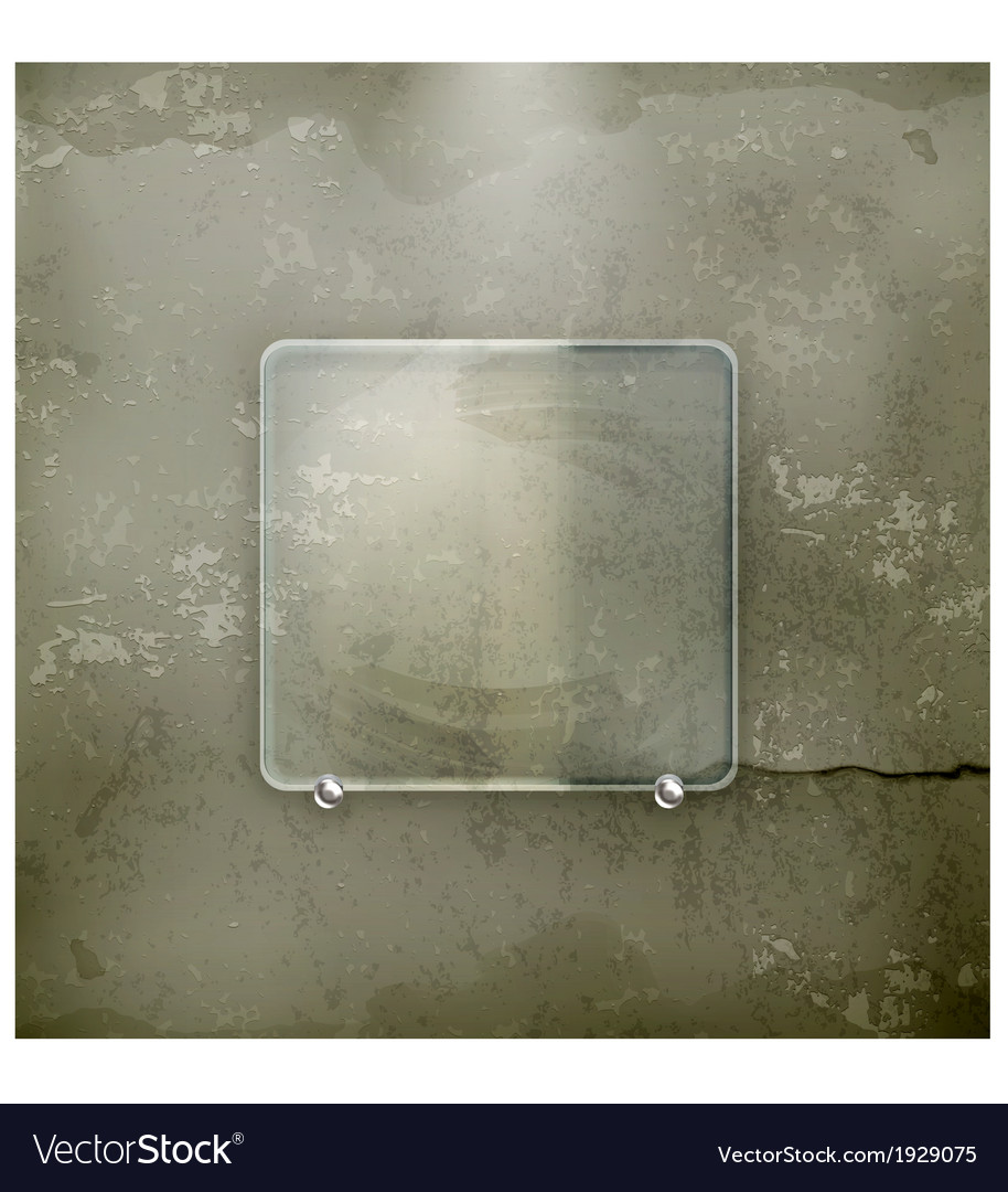Banner glass old-style vector | Price: 1 Credit (USD $1)