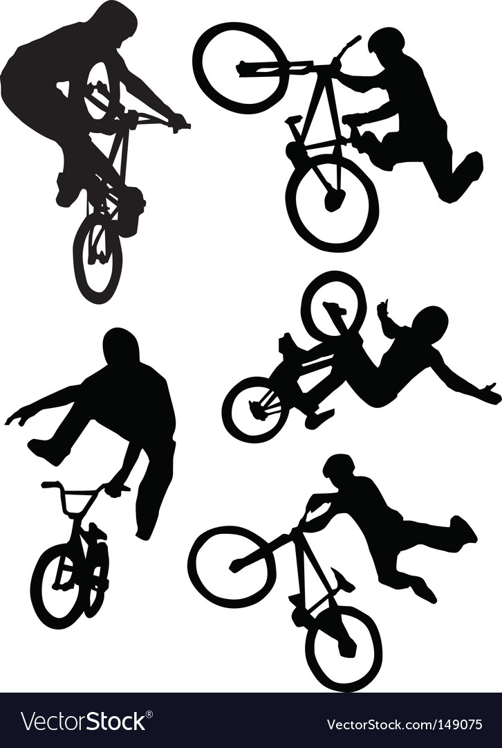 Bmx riders vector | Price: 1 Credit (USD $1)