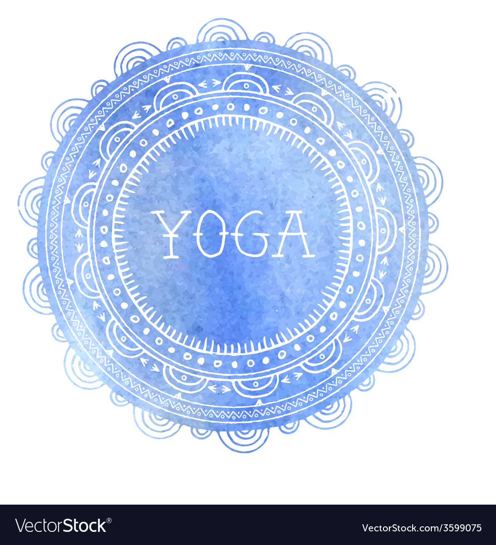 Bohemian mandala and yoga background with round vector | Price: 1 Credit (USD $1)