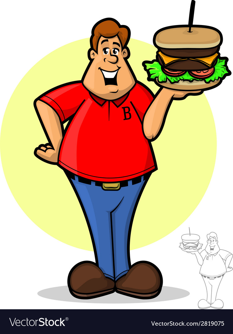 Burger guy vector | Price: 1 Credit (USD $1)