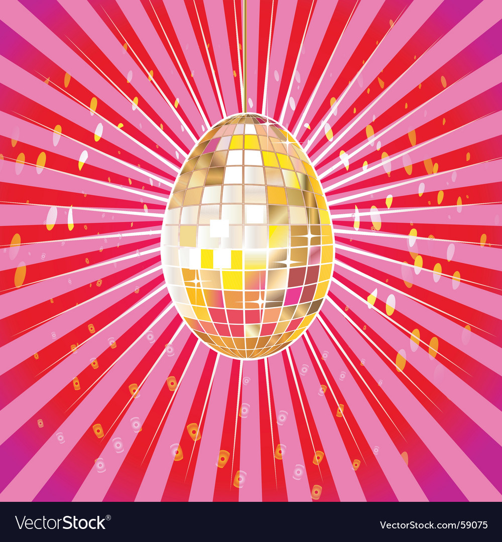 Disco egg vector | Price: 1 Credit (USD $1)