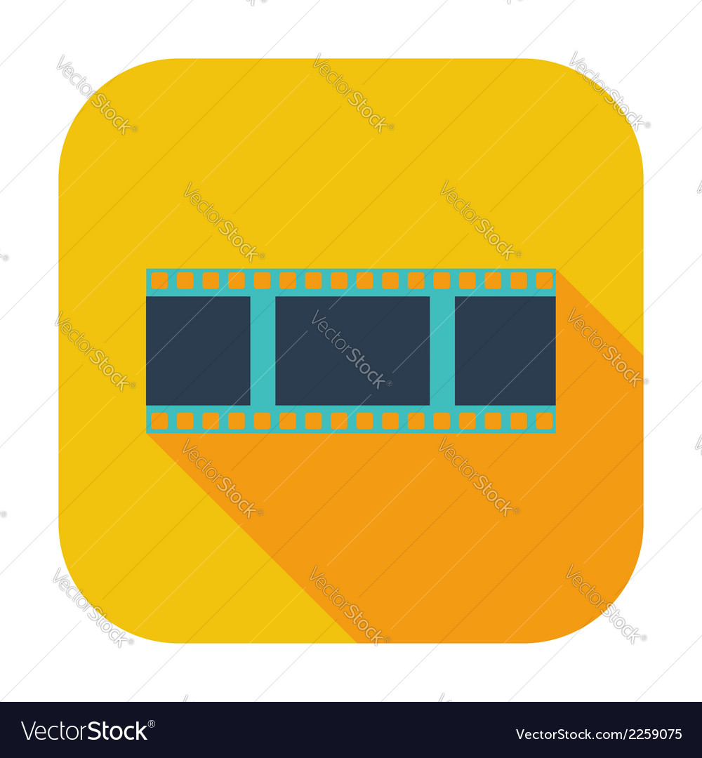 Film flat icon vector | Price: 1 Credit (USD $1)