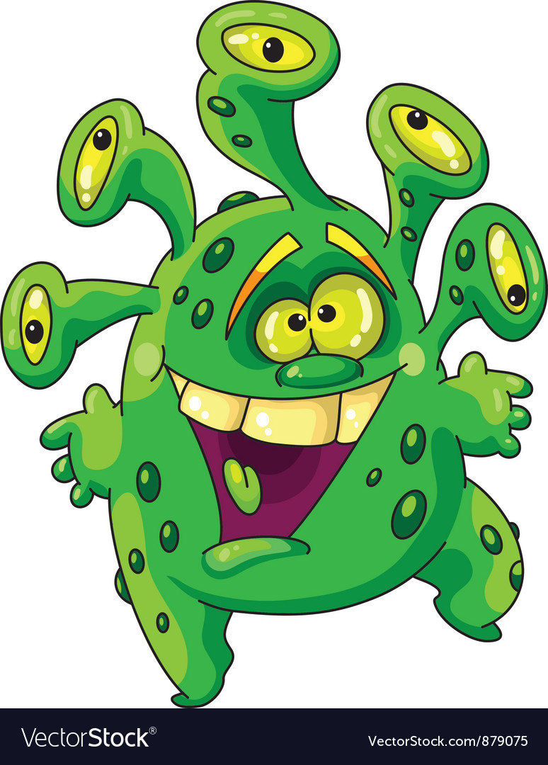 Funny green monster vector | Price: 3 Credit (USD $3)