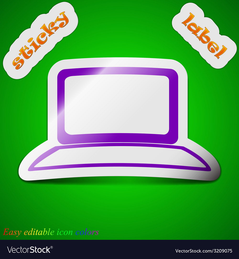 Laptop notebook icon sign symbol chic colored vector | Price: 1 Credit (USD $1)