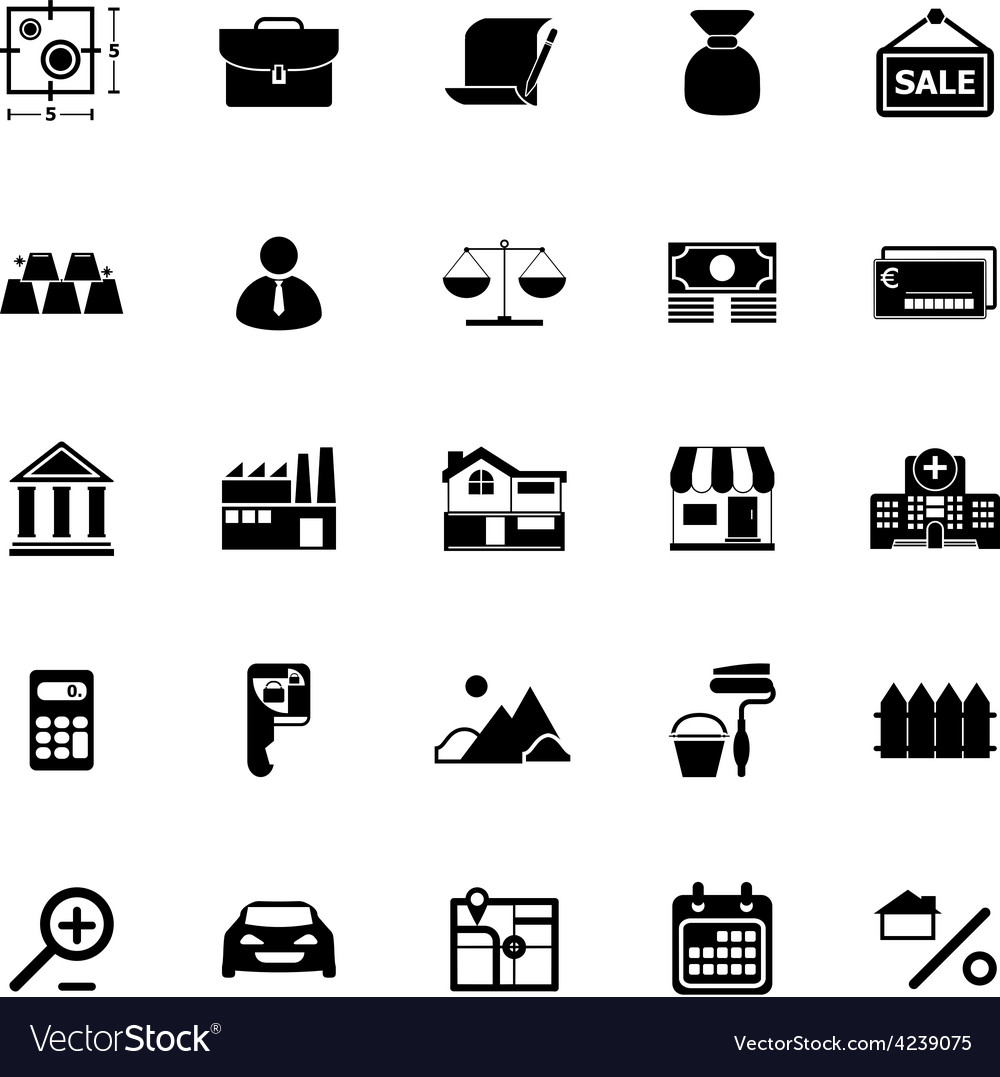 Mortgage and home loan icons on white background vector | Price: 1 Credit (USD $1)
