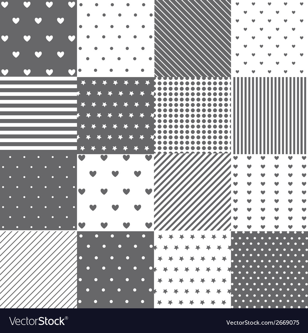 Seamless pattern set vector | Price: 1 Credit (USD $1)