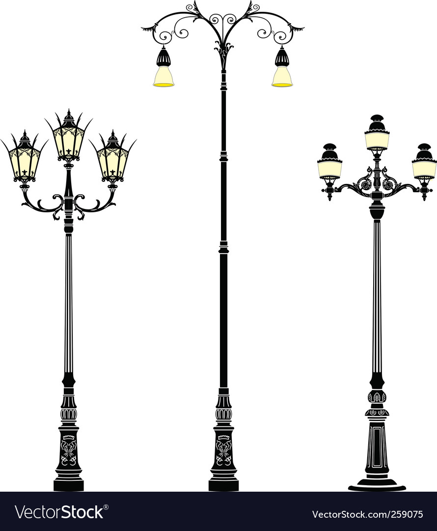 Street lamps vector | Price: 1 Credit (USD $1)