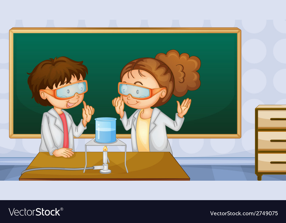 Students in lab vector | Price: 1 Credit (USD $1)