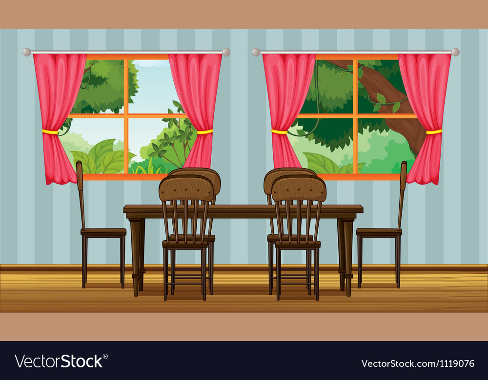 A dining table vector | Price: 1 Credit (USD $1)