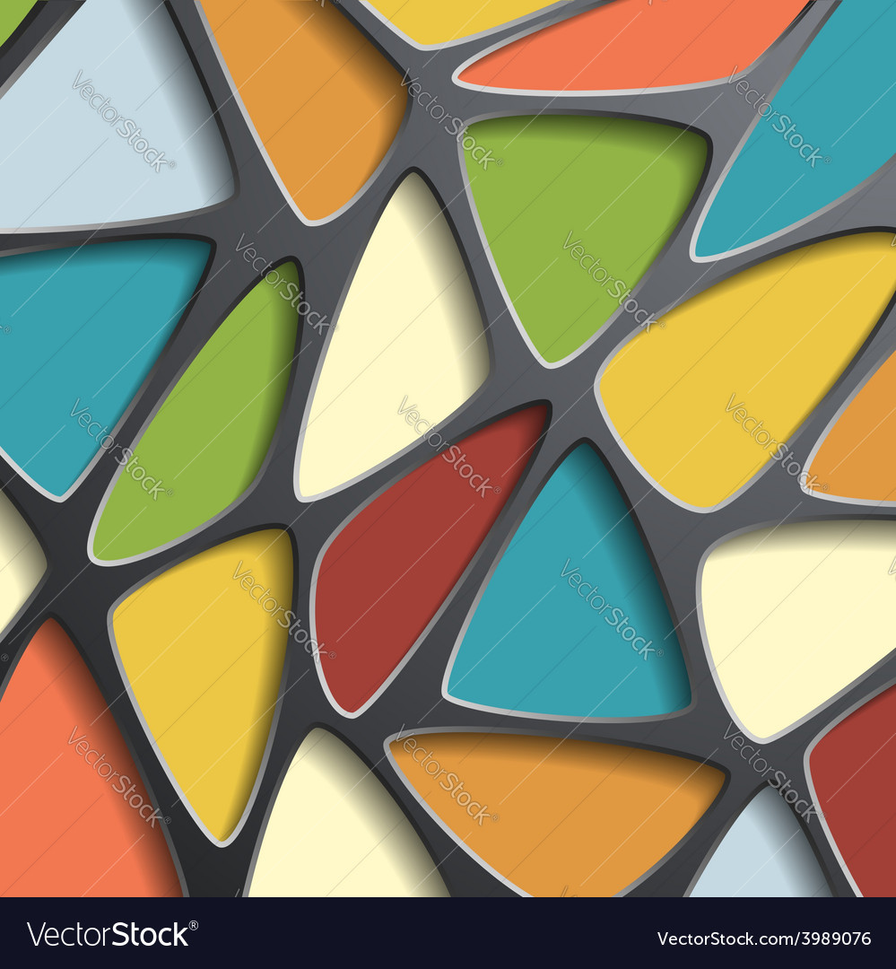 Background of a mesh with colored triangular cells vector | Price: 1 Credit (USD $1)