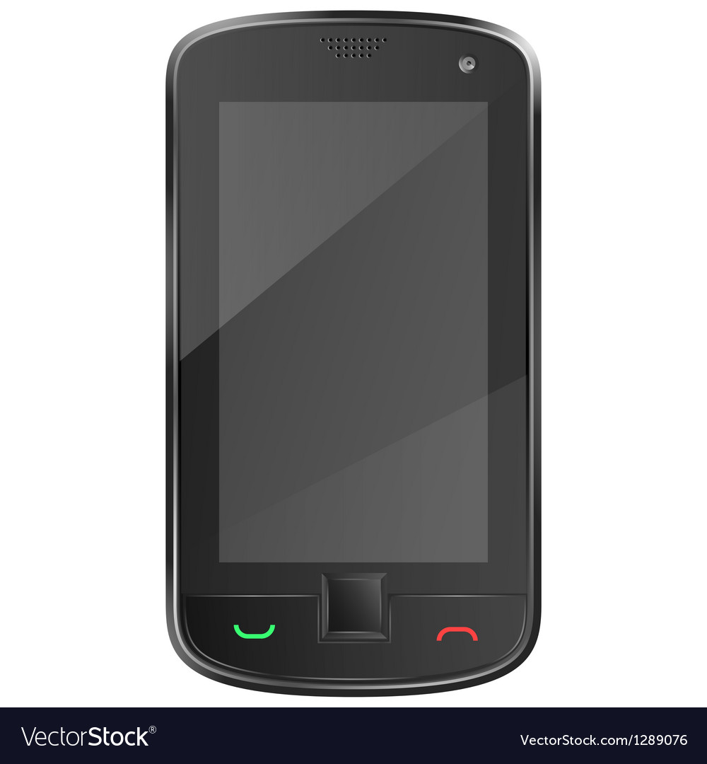 Black mobile phone eps10 vector | Price: 1 Credit (USD $1)