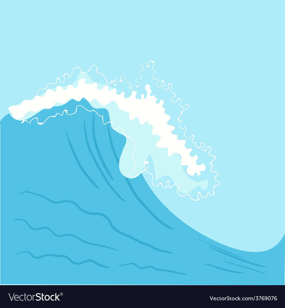 Blue high sea wave vector | Price: 1 Credit (USD $1)