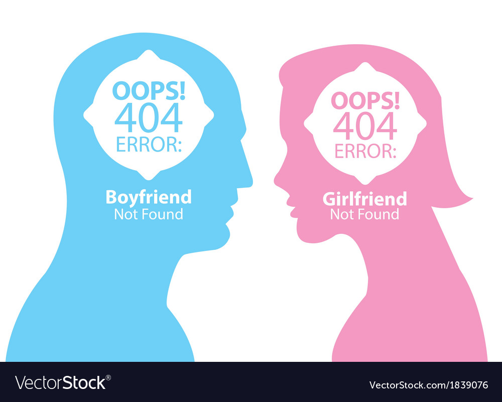 Boyfriend and girlfriend not found vector | Price: 1 Credit (USD $1)