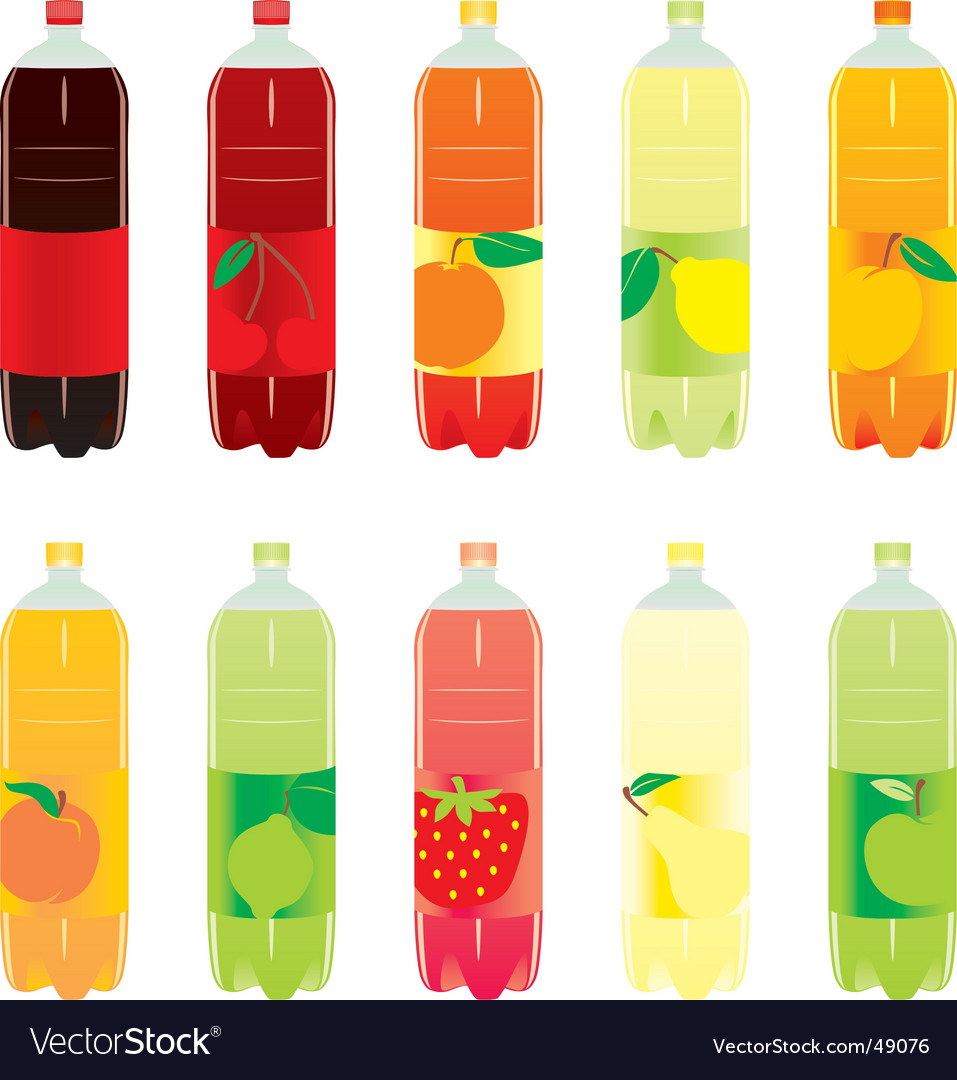 Carbonated drink bottles vector | Price: 1 Credit (USD $1)