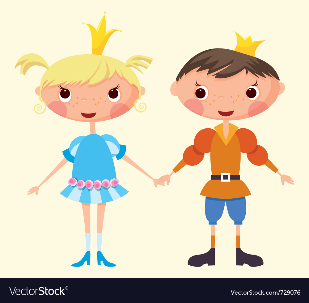 Cartoon prince and princess vector | Price: 3 Credit (USD $3)