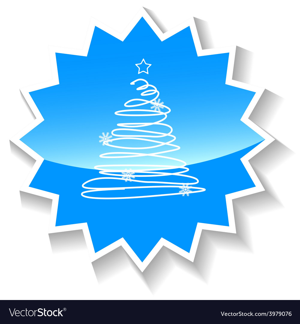 Fir-tree blue icon vector   Price: 1 Credit (USD $1)