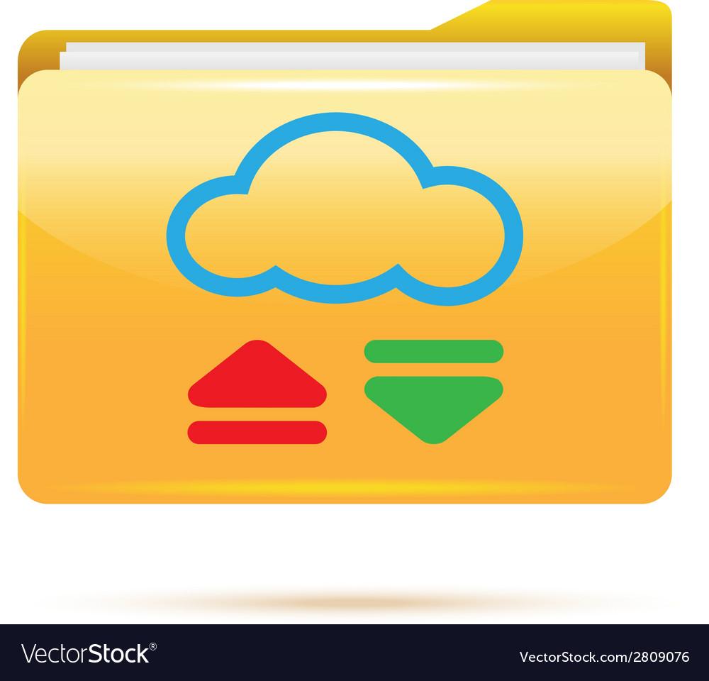 Folder download vector | Price: 1 Credit (USD $1)