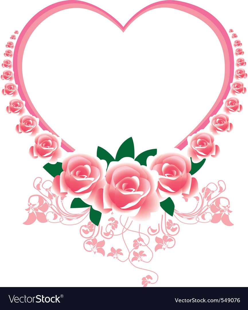 Frame in the victorian style with roses and butter vector | Price: 1 Credit (USD $1)