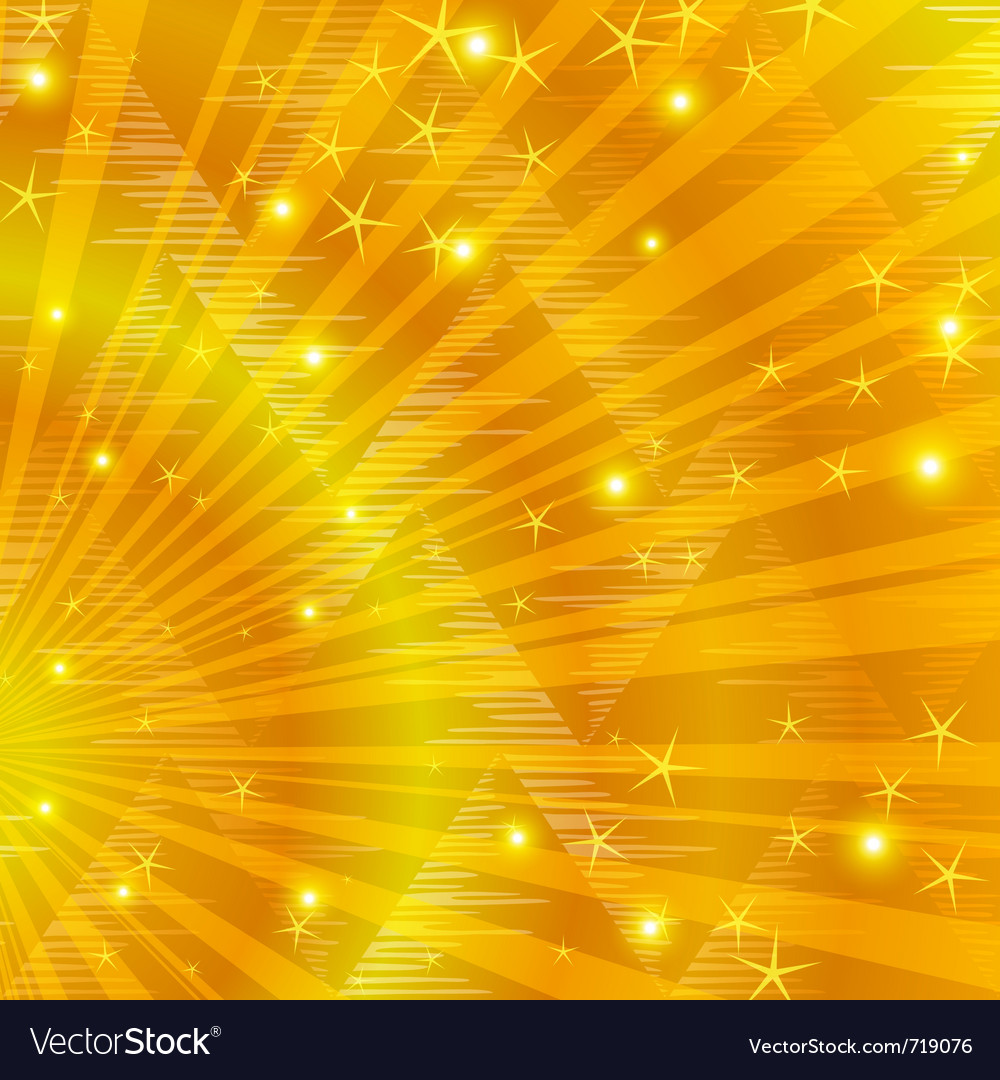Gold background with beams vector | Price: 1 Credit (USD $1)