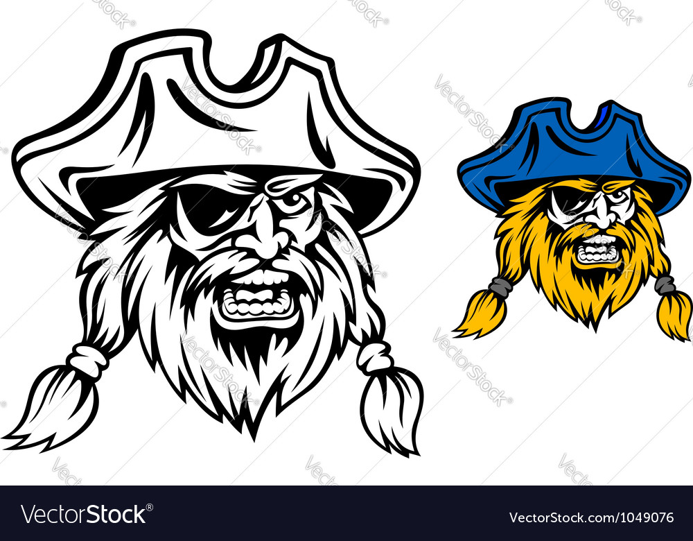 Medieval pirate in cartoon style vector | Price: 1 Credit (USD $1)
