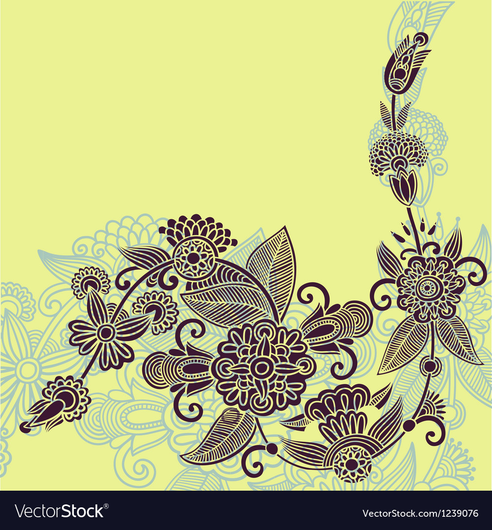 Original hand draw ornate stylish floral backgroun vector | Price: 1 Credit (USD $1)