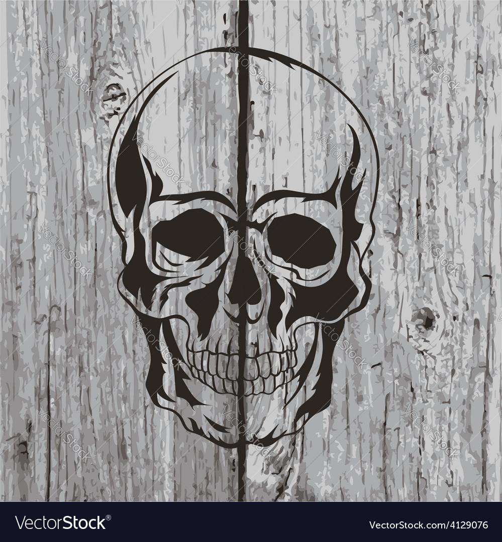 Skull t-shirt design tattoo art vector | Price: 1 Credit (USD $1)