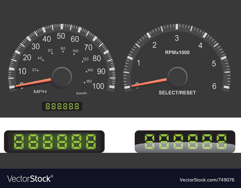 Speedometer a vector | Price: 1 Credit (USD $1)