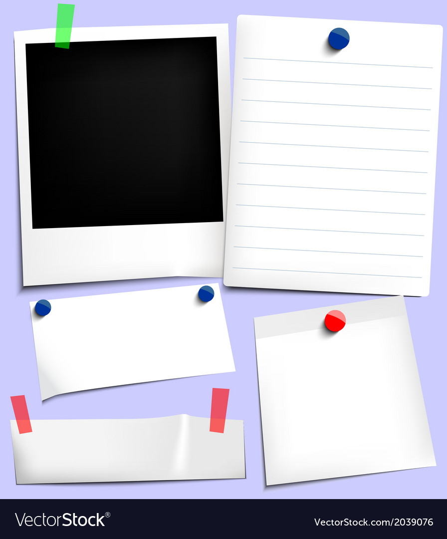 Sticky notes vector | Price: 1 Credit (USD $1)