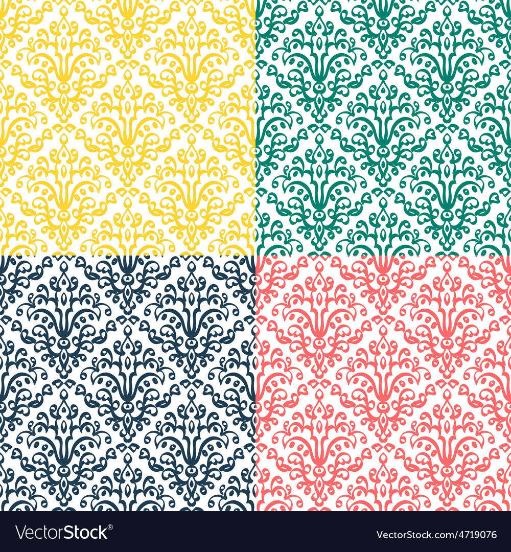 Victorian ornament seamless pattern vector | Price: 1 Credit (USD $1)