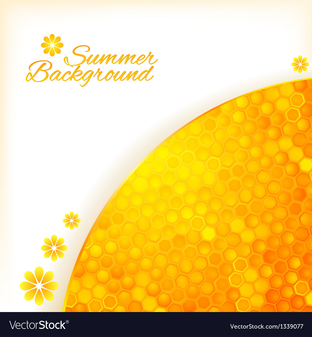 Abstract summer background with honey vector | Price: 1 Credit (USD $1)