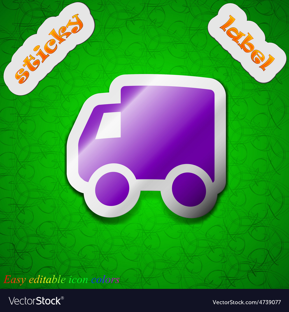 Delivery truck icon sign symbol chic colored vector | Price: 1 Credit (USD $1)