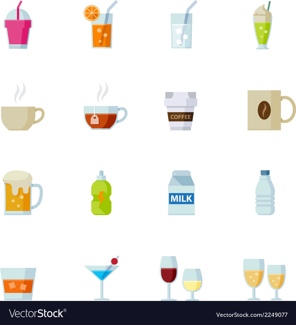 Drink icons and beverages icons vector | Price: 1 Credit (USD $1)